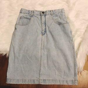 Vintage light Denim Skirt